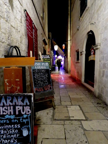 The three pubs open during winter - Dubrovnik, Croatia - by Anika Mikkelson - Miss Maps - www.MissMaps.com