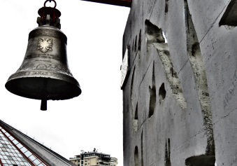 Tirana Albania's Peace Bell Created from Bullets - by Anika Mikkelson - Miss Maps - www.MissMaps.com