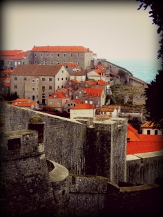 Walls of Old Town Dubrovnik Croatia - by Anika Mikkelson - Miss Maps - www.MissMaps.com