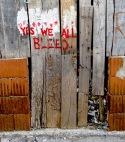 Yes we all bleed - Mostar, Bosnia and Herzegovina - by Anika Mikkelson - Miss Maps - www.MissMaps.com