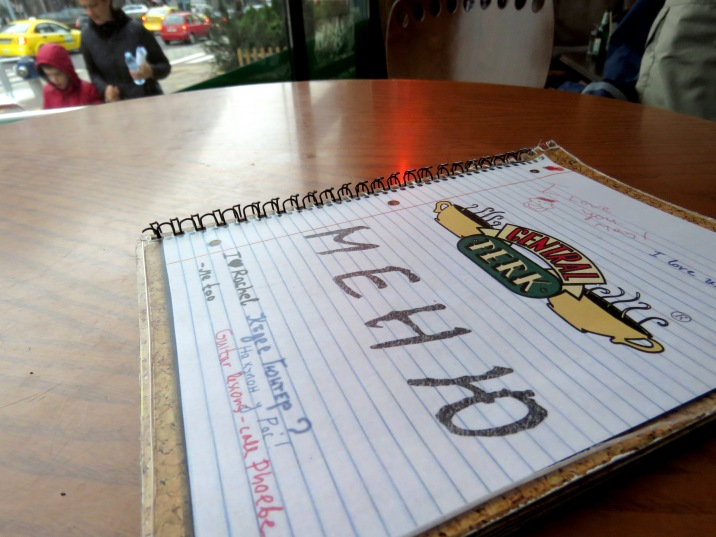 Menu at Central Perk - Plovdiv, Bulgaria - by Anika Mikkelson - Miss Maps