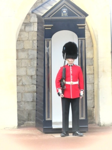 A guard at St. George's Cathedral at Windsor Palace - Windsor, London, UK - by Anika Mikkelson - Miss Maps - www.MissMaps.com
