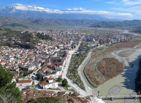 Berat from above - Berat Albania - by Anika Mikkelson - Miss Maps - www.MissMaps.comBerat from above - Berat Albania - by Anika Mikkelson - Miss Maps - www.MissMaps.com