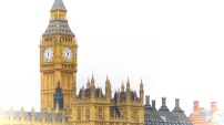 Big Ben and Roofs on the Thames - London, England, United Kingdom - by Anika Mikkelson - Miss Maps