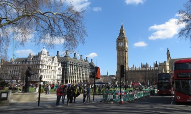 Big Ben at Noon and the London Eye - London, England, United Kingdom - by Anika Mikkelson - Miss Maps