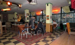 Central Perk's Stage, Orange Couch, and cafe Plovdiv, Bulgaria - by Anika Mikkelson - Miss Maps