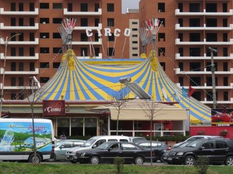 Circo - Downtown Tirana Albania - by Anika Mikkelson - Miss Maps - www.MissMaps.com