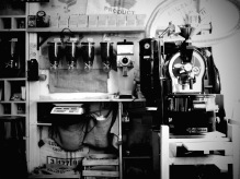 Coffee Shop in Black and White - Plovdiv, Bulgaria - by Anika Mikkelson - Miss Maps