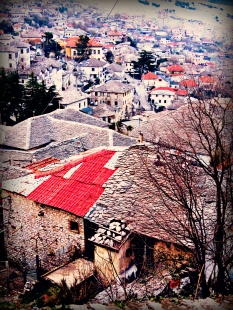 Gjirokaster from the Fortress - by Anika Mikkelson - Miss Maps - www.MissMaps.com
