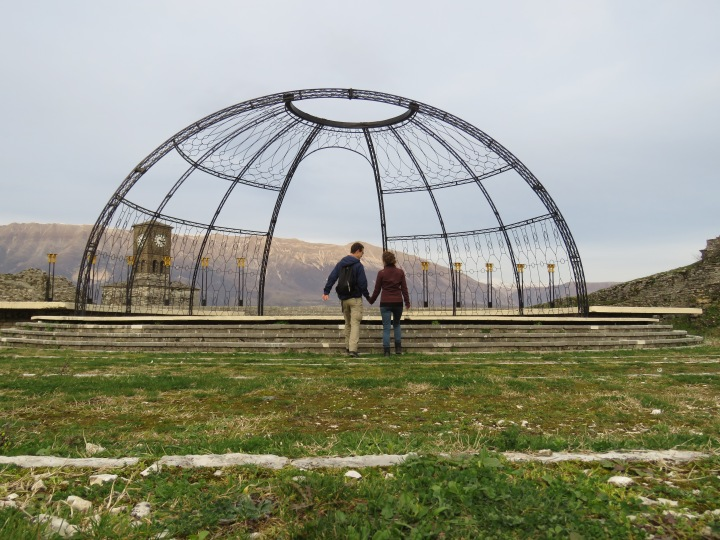 It didn't work out how we planned, but it's kinda cute! - Gjirokaster Albania - by Anika Mikkelson - Miss Maps - www.MissMaps.com