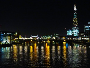 London from the Thames at Night - London, England, United Kingdom - by Anika Mikkelson - Miss Maps