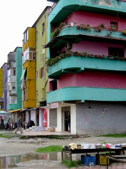 More Colorful Apartments of Downtown Tirana Albania - by Anika Mikkelson - Miss Maps - www.MissMaps.com