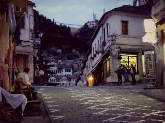 Old Town at Dusk - Gjirokaster Albania - by Anika Mikkelson - Miss Maps - www.MissMaps.com