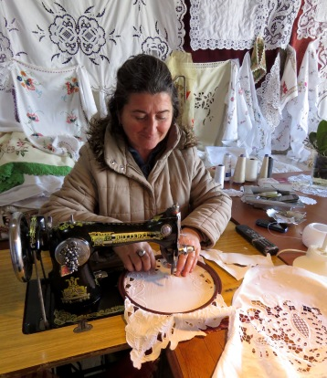 Our best embroidery friend - Berat Albania - by Anika Mikkelson - Miss Maps - www.MissMaps.com