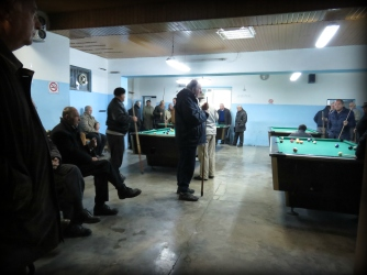 Pool Hall Games - Elbasan Albania - by Anika Mikkelson - Miss Maps - www.MissMaps.com