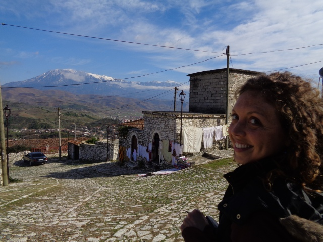 Smiles from Berat Castle - Anika Mikkelson - Miss Maps - www.MissMaps.com