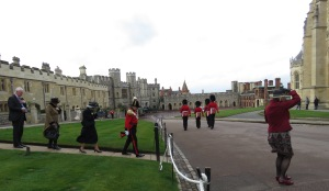 So much royalty, so much wind outside St. George's Cathedral at Windsor Palace - Windsor, London, UK - by Anika Mikkelson - Miss Maps - www.MissMaps.com