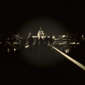 St. Paul's Cathedral from Millenium Bridge - London, England, United Kingdom - by Anika Mikkelson - Miss Maps