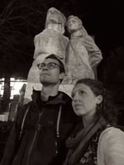 Stone Statues - Gjirokaster Albania - by Anika Mikkelson - Miss Maps - www.MissMaps.com