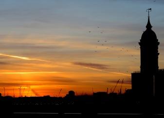 Sunset from the London Bridge - London, England, United Kingdom - by Anika Mikkelson - Miss Maps