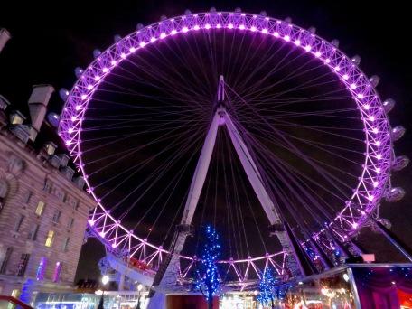 The London Eye at Night - London, England, United Kingdom - by Anika Mikkelson - Miss Maps