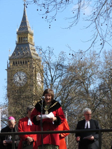 The Mayor of Wesminster giving a Good Friday Speech near Big Ben - London, England, United Kingdom - by Anika Mikkelson - Miss Maps