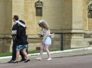 Wind Reaks Havoc on Fashion at St. George's Cathedral at Windsor Palace - Windsor, London, UK - by Anika Mikkelson - Miss Maps - www.MissMaps.com