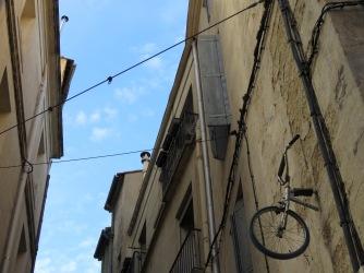 A bike in bricks Montpellier France - by Anika Mikkelson - Miss Maps - www.MissMaps.com