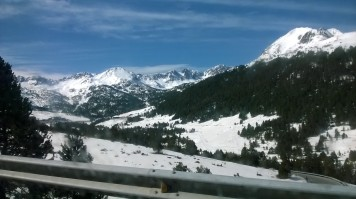 A phone photo of Andorra from the car window - Andorra - by Anika Mikkelson - Miss Maps - www.MissMaps.com