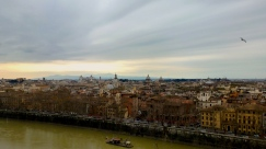 A View of Rome from Castel Sant'Angelo in Rome Italy - by Anika Mikkelson - Miss Maps - www.MissMaps.com