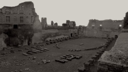 Ancient Stadium on Palatine Hill in Rome Italy - by Anika Mikkelson - Miss Maps - www.MissMaps.com