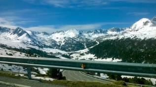 Another phone photo of Andorra through the car window - Andorra - by Anika Mikkelson - Miss Maps - www.MissMaps.com