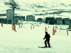 At the end of a run - Andorra - by Anika Mikkelson - Miss Maps - www.MissMaps.com