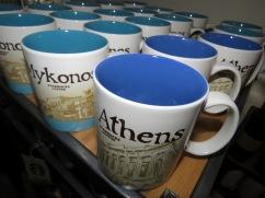 Athens and Mykonos Starbucks Mugs