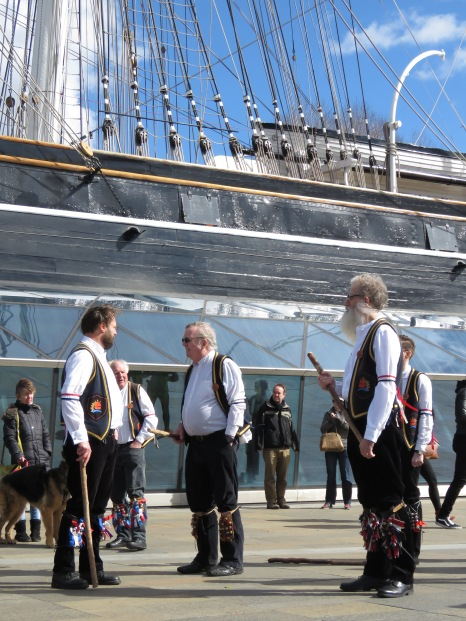 Blackheath Morris Men and Cutty Shark Ship in Greenwich London UK - by Anika Mikkelson - Miss Maps