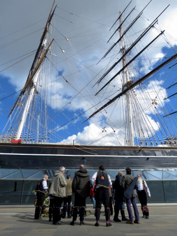 Blackheath Morris Men at Cutty Shark Ship in Greenwich London UK - by Anika Mikkelson - Miss Maps