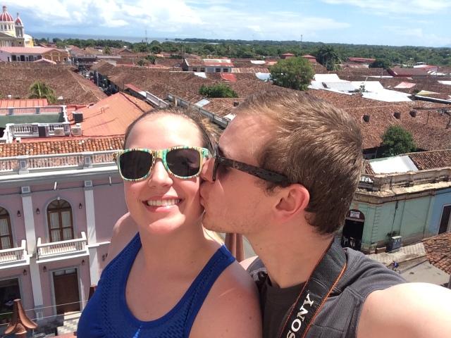 Brianna and her husband in Granada, Nicaragua - MissMaps.com Featured Female Traveler