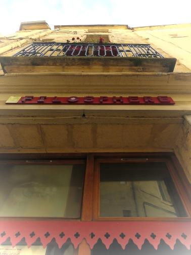 Cafe Filosphere of Montpellier France - by Anika Mikkelson - Miss Maps - www.MissMaps.com