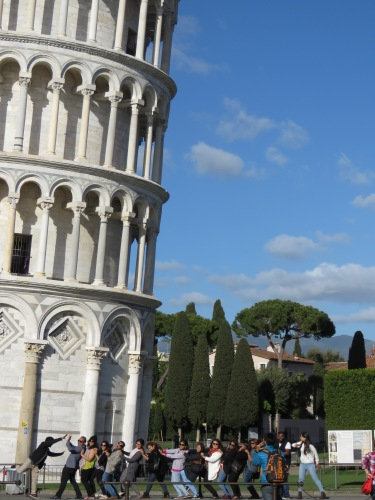 Catch it if you can - Leaning Tower of Pisa, Italy - by Anika Mikkelson - Miss Maps - www.MissMaps.com