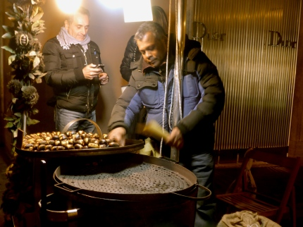 Chestnuts Roasting on an Open Fire in Rome Italy - by Anika Mikkelson - Miss Maps - www.MissMaps.com