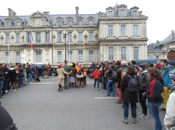 Clowns and Protests in Grenoble France - by Anika Mikkelson - Miss Maps - www.MissMaps.com