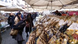Fresh Pasta Market - Rome Italy - by Anika Mikkelson - Miss Maps - www.MissMaps.com