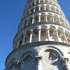 From below - Leaning Tower of Pisa, Italy - by Anika Mikkelson - Miss Maps - www.MissMaps.com