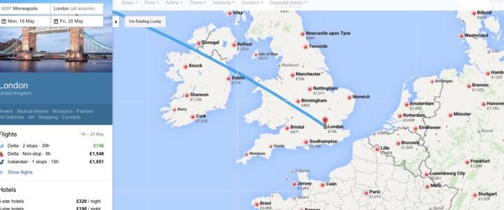 Google Flights Map Feature - Miss Maps - www.MissMaps.com