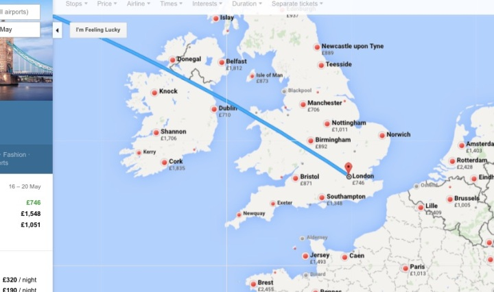 Google Flights Map Feature - Miss Maps - www.MissMaps.com