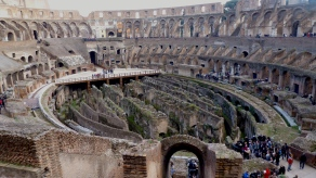 Inside the Colosseum of Rome Italy - by Anika Mikkelson - Miss Maps - www.MissMaps.com