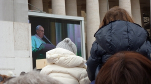 It was at times easier to see him on the big screen - Holy See - by Anika Mikkelson - Miss Maps - www.MissMaps.com