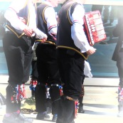 Jingle Bells of the Blackheath Morris Men and Cutty Shark Ship in Greenwich London UK - by Anika Mikkelson - Miss Maps