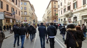 Masses of People Walking to the Vatican - Holy See - by Anika Mikkelson - Miss Maps - www.MissMaps.com