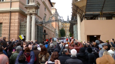 Members of the Clergy Approach the Vatican - Holy See - by Anika Mikkelson - Miss Maps - www.MissMaps.com